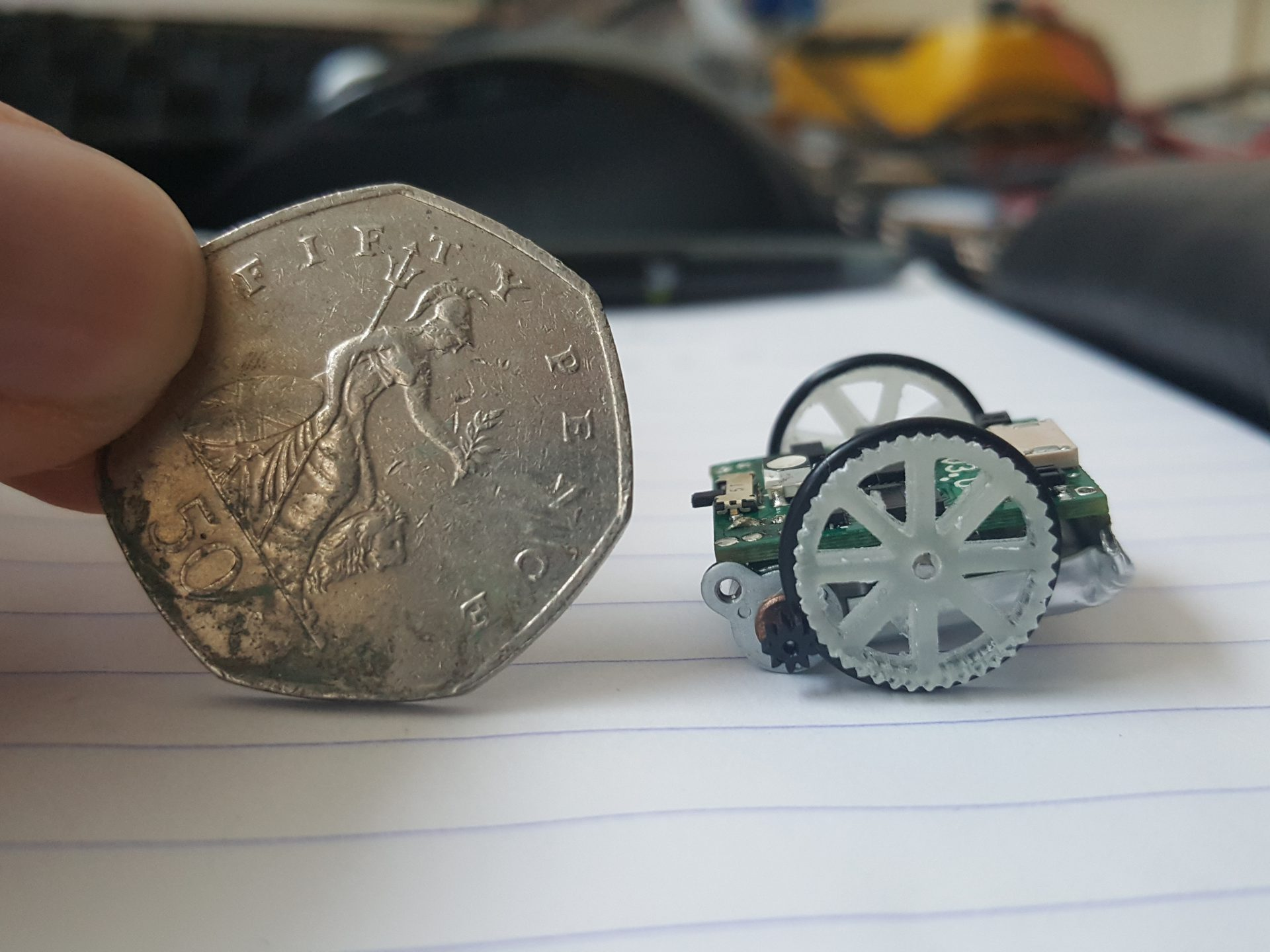 Micro Robot: with 50 pence